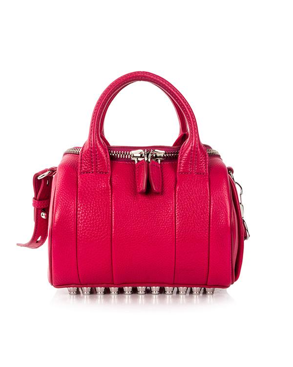 сумка из фактурной кожи с фирменными металлическими шипами артикул 20S0199 марки Alexander Wang купить за 30700 руб.