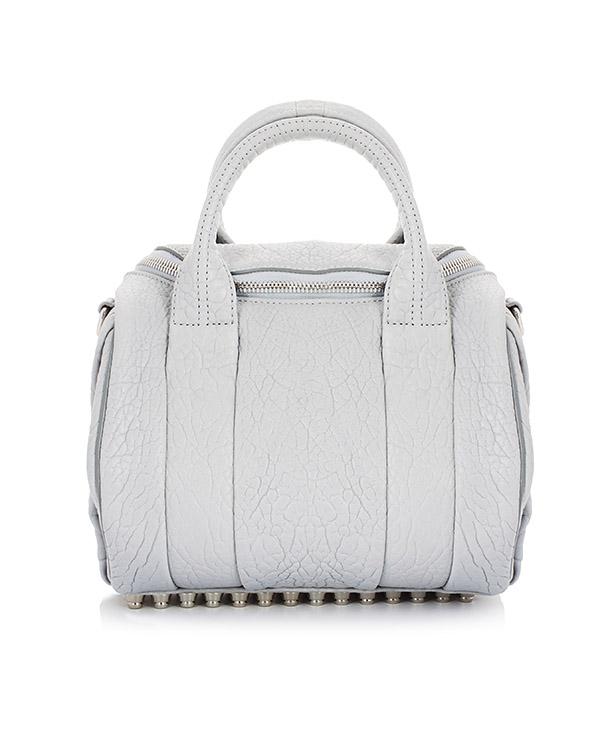 сумка из фактурной кожи с фирменными шипами артикул 20S0265 марки Alexander Wang купить за 39000 руб.