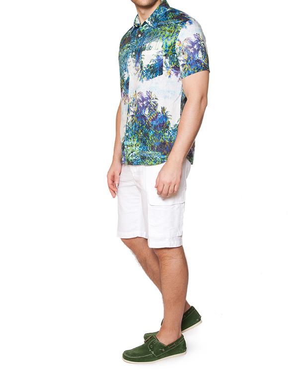 мужская шорты 120% lino, сезон: лето 2015. Купить за 14400 руб. | Фото 3