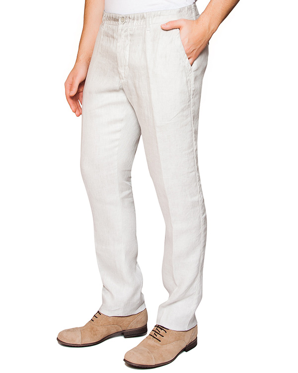 брюки классического прямого кроя из льна артикул 2130D943 марки 120% lino купить за 7600 руб.