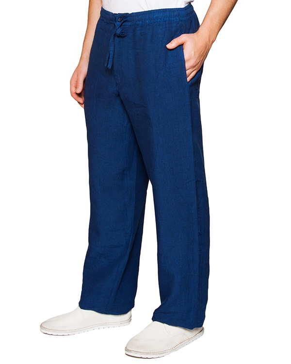 брюки прямого кроя из натурального льна артикул 21430253-001 марки 120% lino купить за 6700 руб.
