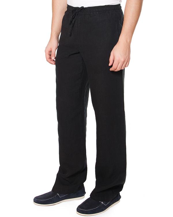 брюки прямого широкого силуэта с высокой посадкой, из тонкого комфортного льна артикул 21430253 марки 120% lino купить за 6600 руб.