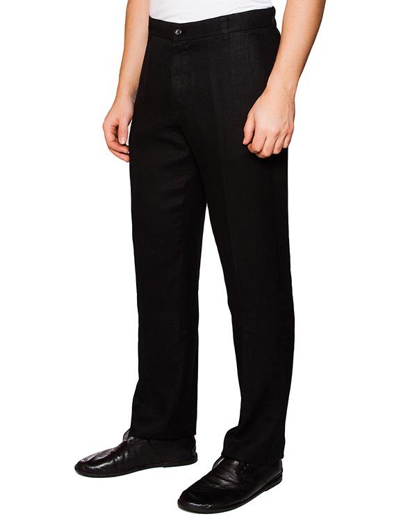 брюки классического прямого кроя из натурального льна артикул 2161D943 марки 120% lino купить за 7200 руб.