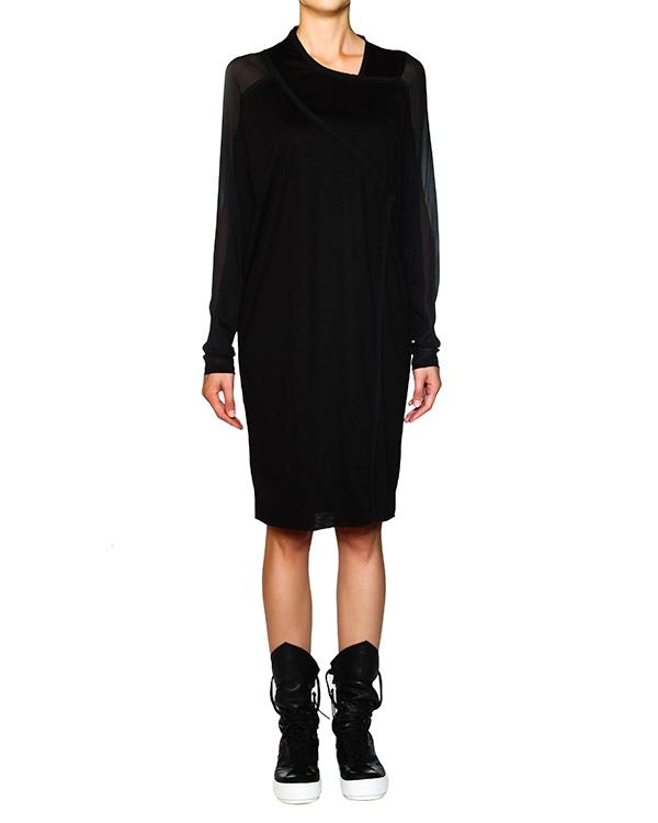 платье из тонкой шерсти с шелковыми рукавами артикул 21AX767-15 марки ILARIA NISTRI купить за 11700 руб.