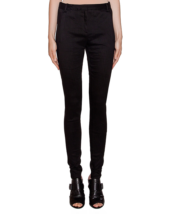 брюки зауженного кроя из плотного льна артикул 22PY863/6 марки ILARIA NISTRI купить за 12400 руб.