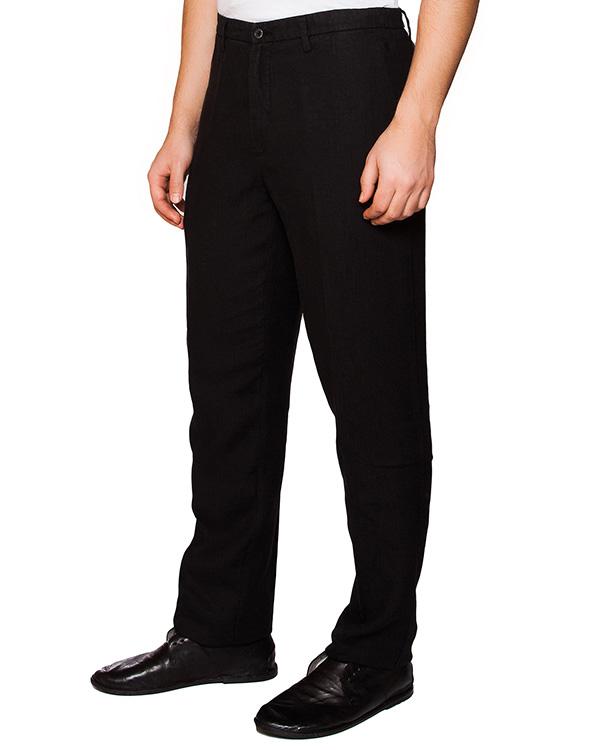 брюки классического прямого кроя из натурального льна артикул 2411D695-001 марки 120% lino купить за 6900 руб.