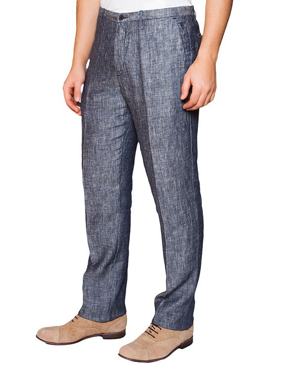 брюки классического прямого кроя из натурального льна артикул 2411E425 марки 120% lino купить за 7200 руб.