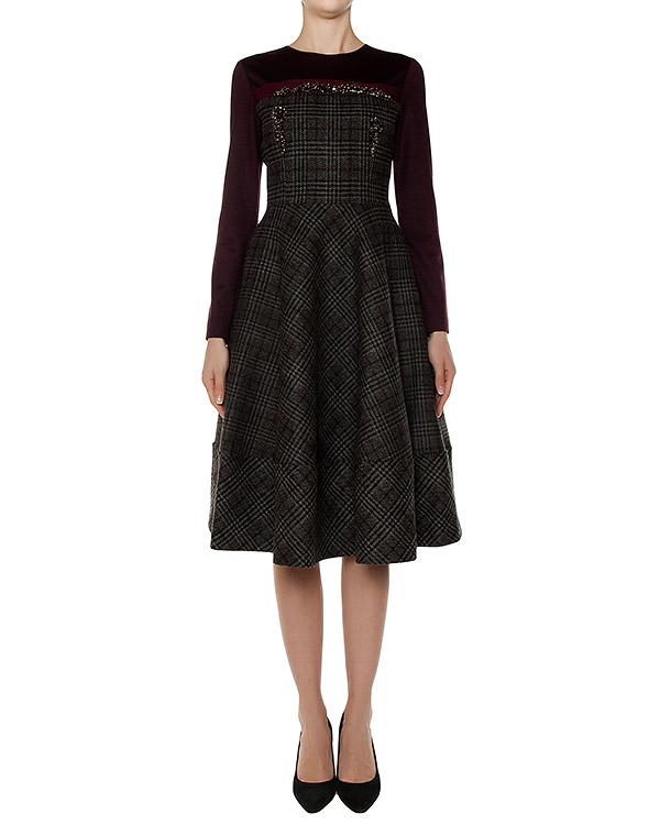 платье из плотного твида, украшено бисером артикул 2530 марки Dice Kayek купить за 50400 руб.