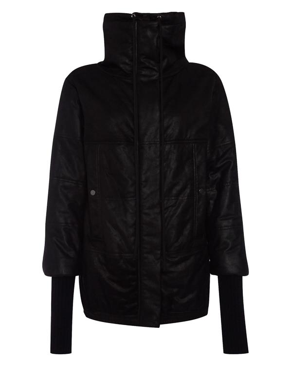 куртка из мягкой кожи с трикотажной отделкой артикул 25HY487/13 марки ILARIA NISTRI купить за 136800 руб.