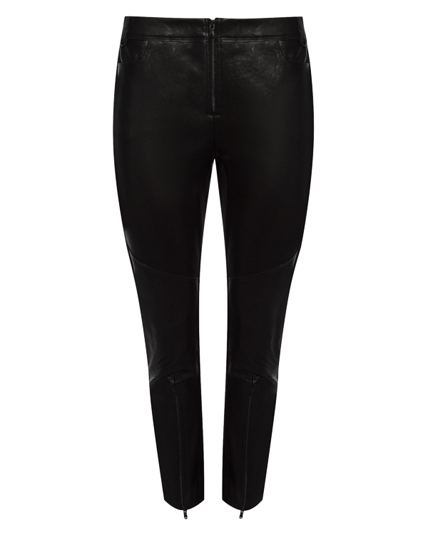 брюки из кожи с панельным дизайном артикул 25PY401/6 марки ILARIA NISTRI купить за 39900 руб.
