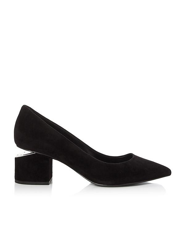 туфли замшевые со скошенным каблуком артикул 303116P16 марки Alexander Wang купить за 41600 руб.