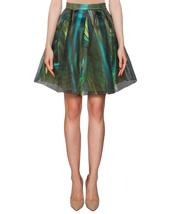 юбка из плотной фактурной ткани с цветочным принтом артикул 310 марки Infinee купить за 11900 руб.