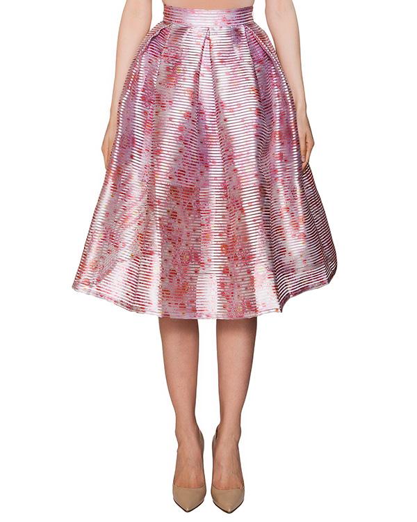 юбка из плотной фактурной ткани с цветочным принтом артикул 315 марки Infinee купить за 14900 руб.