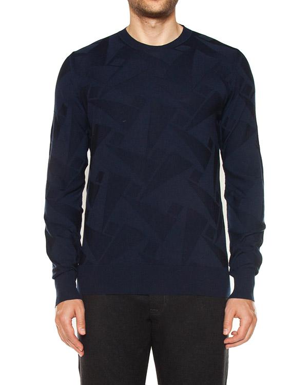 джемпер из трикотажной шерсти темно-синего оттенка артикул 319105 марки Cortigiani купить за 29100 руб.