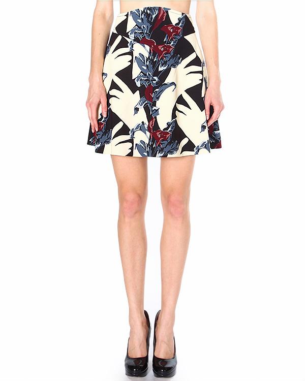 юбка А-силуэта, с посадкой на талии артикул 335J75 марки Carven купить за 14100 руб.