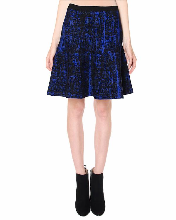 юбка из сложно-составного трикотажа контрастного плетения артикул 39584 марки D.EXTERIOR купить за 8200 руб.