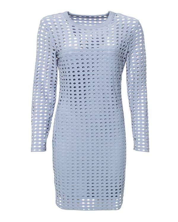 платье с перфорацией артикул 400417 марки T by Alexander Wang купить за 8800 руб.