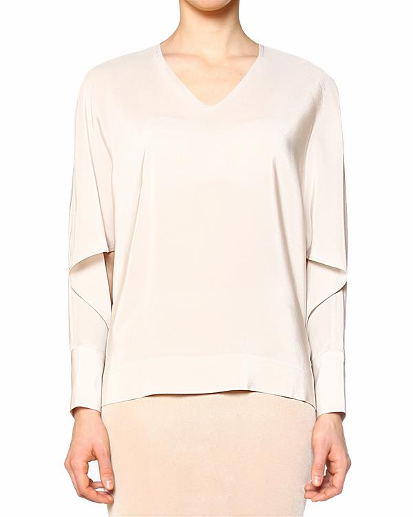 блуза свободного кроя из шелка  артикул 40452 марки D.EXTERIOR купить за 13000 руб.