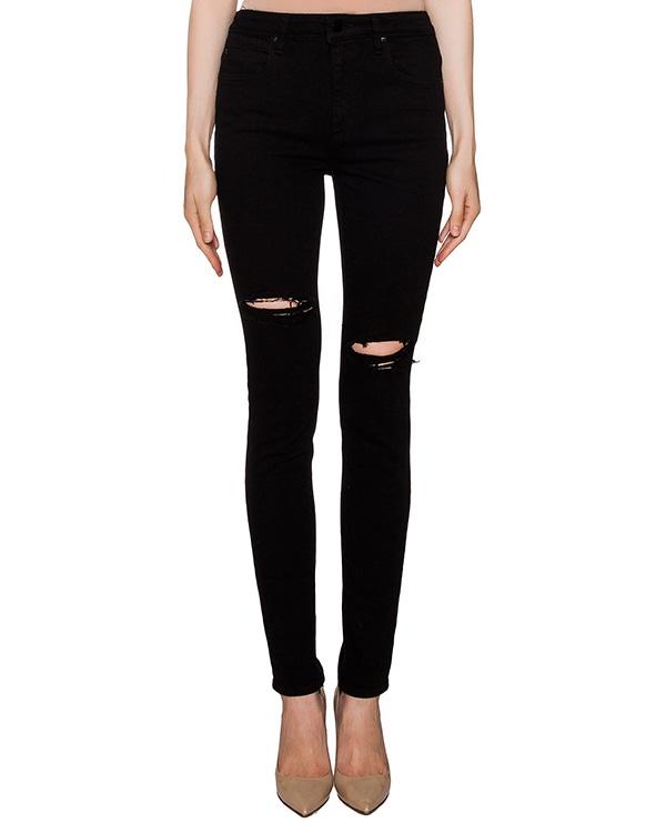 джинсы из эластичного денима с разрезами артикул 413793 марки T by Alexander Wang купить за 9900 руб.