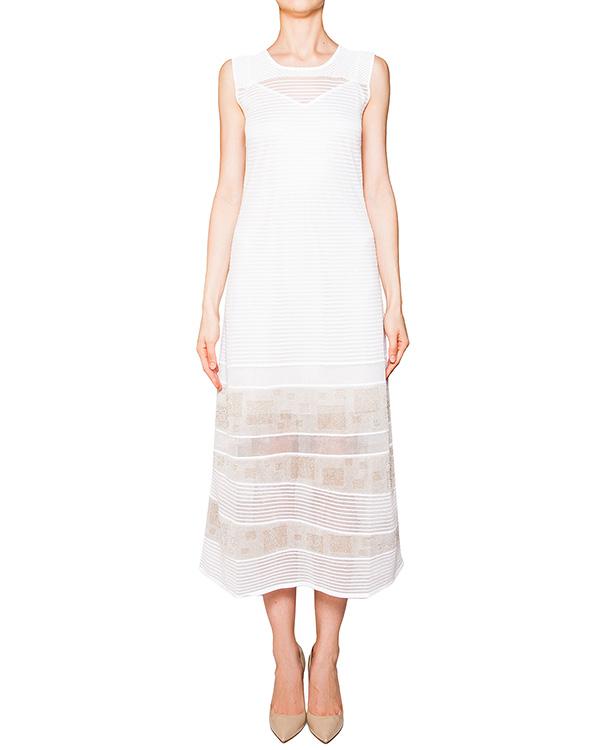 платье в пол из эластичной фактурной ткани с прозрачными вставками артикул 42024 марки D.EXTERIOR купить за 15800 руб.