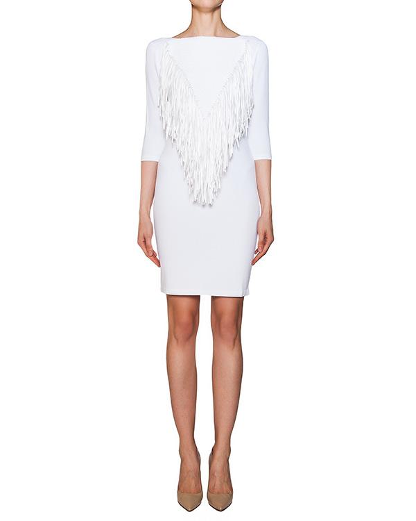 платье из эластичной ткани с бахромой артикул 42067 марки D.EXTERIOR купить за 15600 руб.