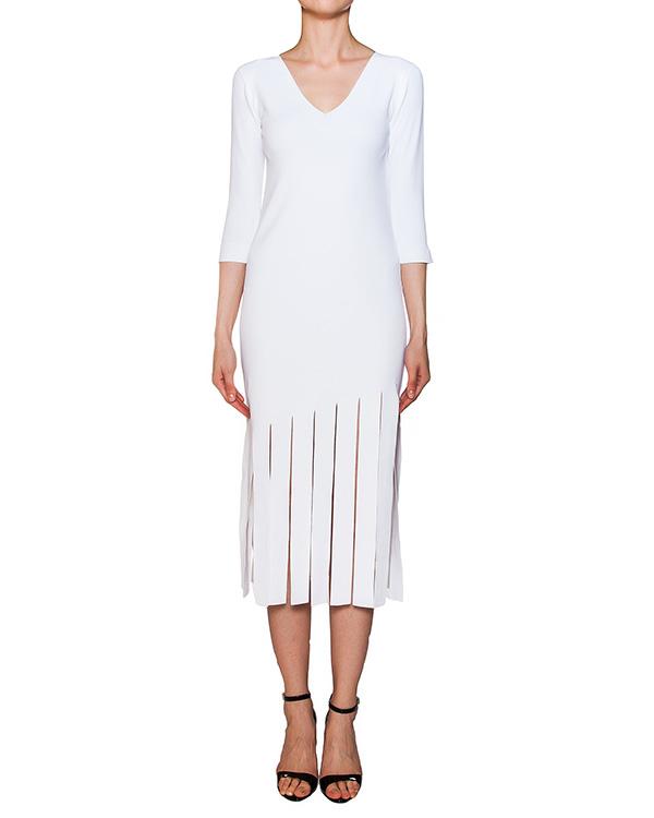 платье из плотной эластичной ткани с разрезами артикул 42234 марки D.EXTERIOR купить за 19600 руб.