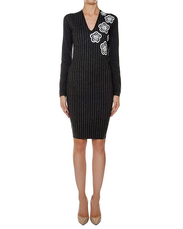 платье из мягкого шерстяного трикотажа в тонкую полоску   артикул 43279 марки D.EXTERIOR купить за 16900 руб.
