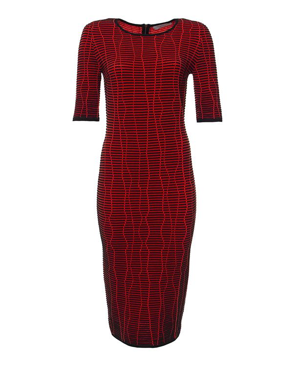 платье из фактурного шерстяного трикотажа артикул 43412 марки D.EXTERIOR купить за 17900 руб.