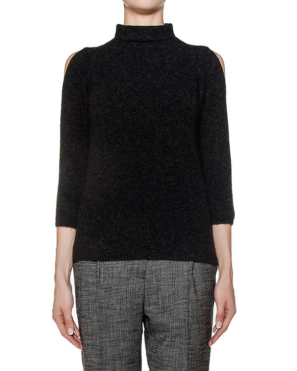 свитер из мягкого шерстяного трикотажа с вырезами на плечах артикул 43519 марки D.EXTERIOR купить за 9500 руб.