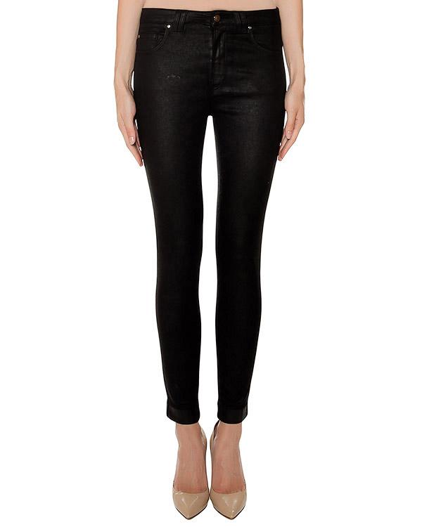 джинсы из эластичного денима с покрытием артикул 43926 марки D.EXTERIOR купить за 8300 руб.