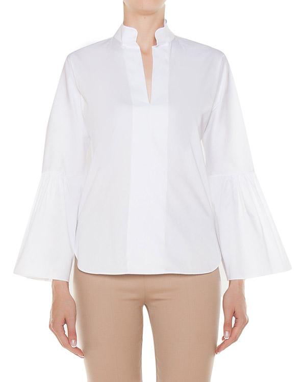блуза из хлопка с расклешенными рукавами артикул 45800 марки D.EXTERIOR купить за 12200 руб.