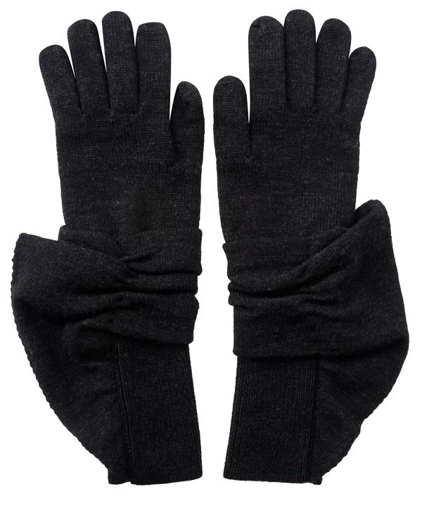 перчатки из шерсти с объемной отделкой артикул 45991 марки D.EXTERIOR купить за 6500 руб.
