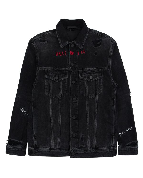 куртка джинсовка объемного силуэта артикул 4D272015AC марки T by Alexander Wang купить за 32700 руб.
