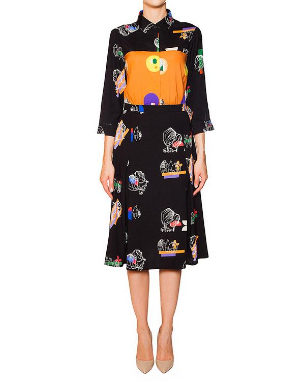 платье из тонкого шелка с абстрактным принтом артикул 5320-1 марки Poustovit купить за 30600 руб.