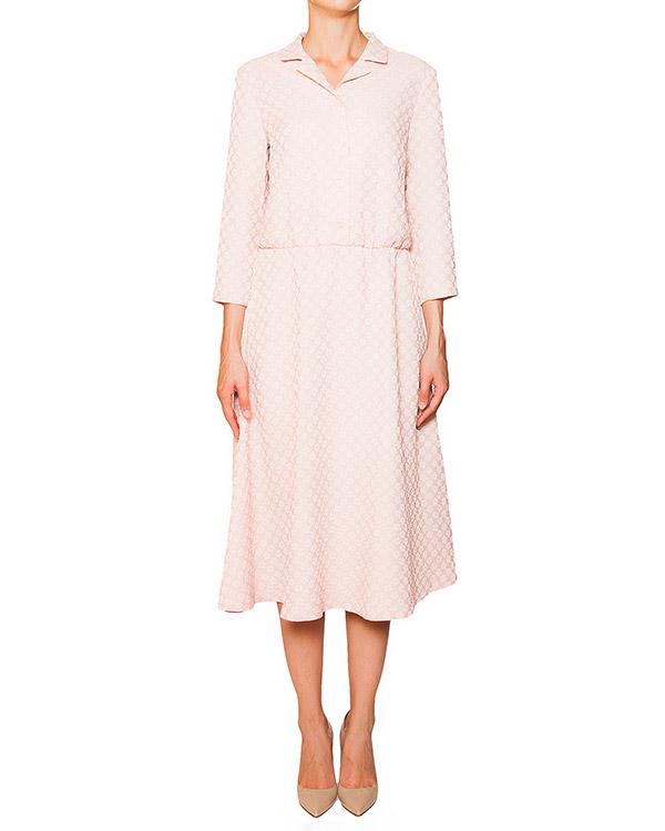 платье из эластичного трикотажа с фактурным цветочным узором артикул 5330-15 марки Poustovit купить за 11300 руб.