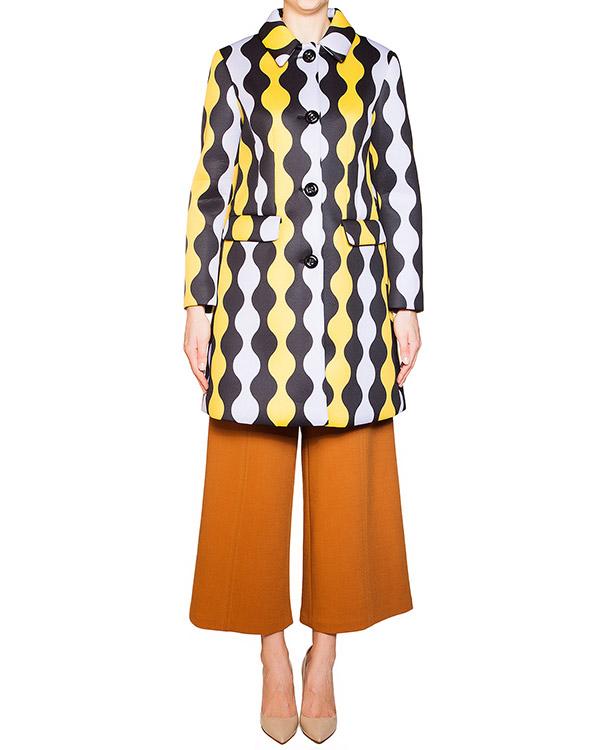 пальто из неопрена с контрастным орнаментом артикул 54VP125 марки VIVETTA купить за 14900 руб.