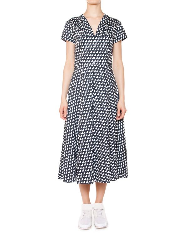 платье из хлопка с геометрическим принтом артикул 5679 марки Poustovit купить за 37800 руб.