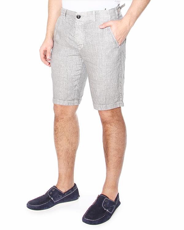 шорты бермуды из тонкого льна, с прорезными карманами артикул 6215LLB01 марки Stone Island купить за 5300 руб.
