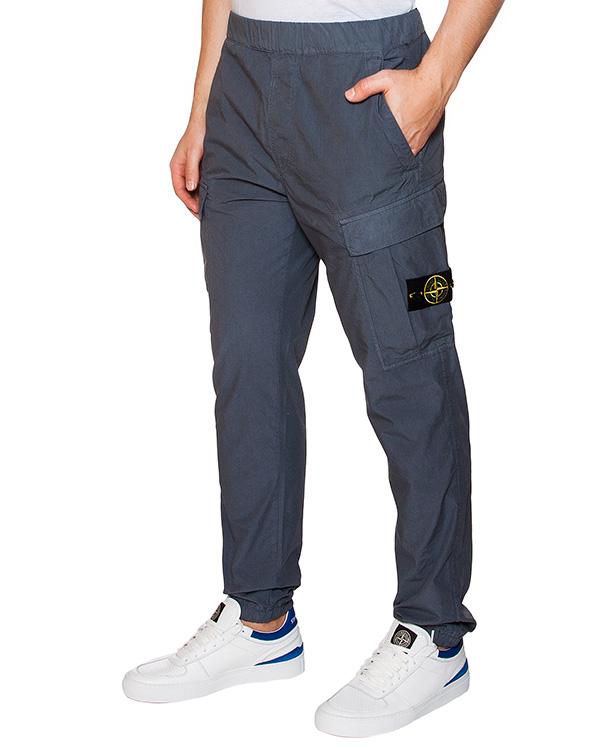 брюки из хлопка с фирменным патчем артикул 641531303 марки Stone Island купить за 13100 руб.