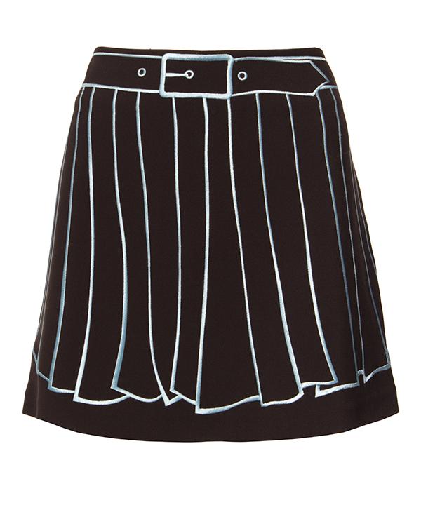 юбка из плотной ткани с вышитым рисунком артикул 64VV308 марки VIVETTA купить за 12900 руб.