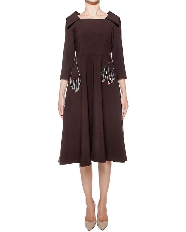 платье из плотной ткани с вышивкой на талии артикул 64VV547 марки VIVETTA купить за 24900 руб.
