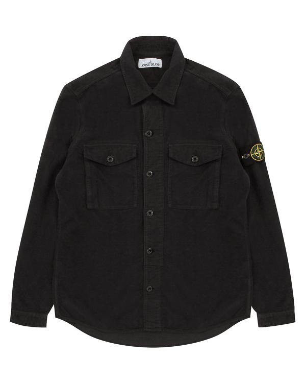 рубашка из хлопка с фирменным патчем бренда  артикул 671511102 марки Stone Island купить за 14800 руб.