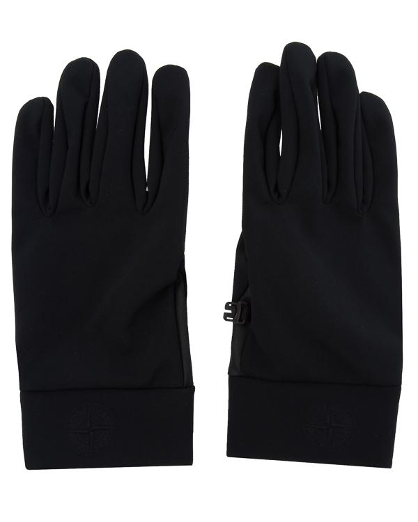 перчатки из комбинированного материала с логотипом бренда  артикул 671592280 марки Stone Island купить за 7000 руб.