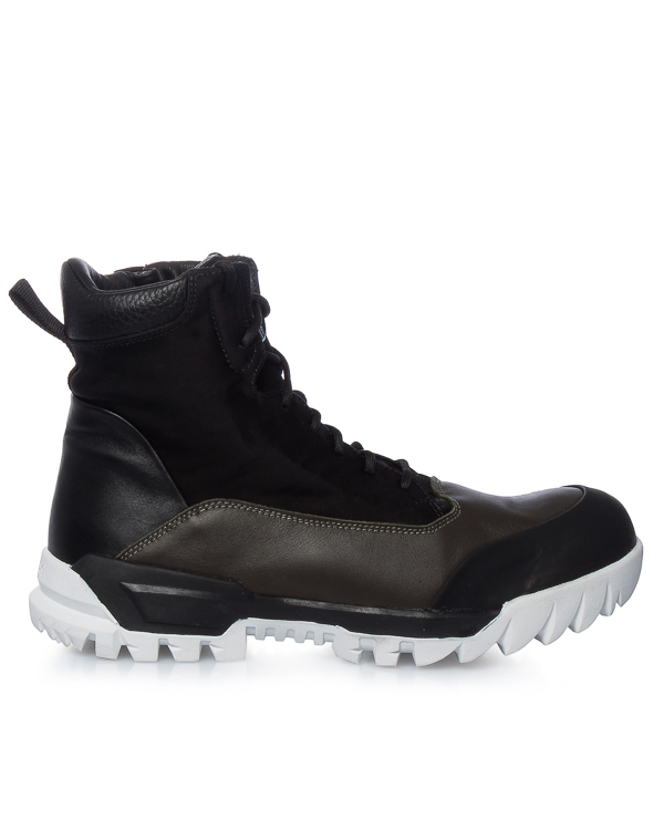 ботинки из кожи и нейлоновой парусины  артикул 6715S0365 марки Stone Island купить за 25600 руб.
