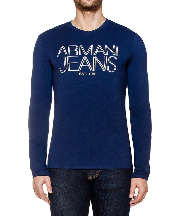 футболка из хлопкового трикотажа с логотипом бренда артикул 6X6T11 марки ARMANI JEANS купить за 3300 руб.