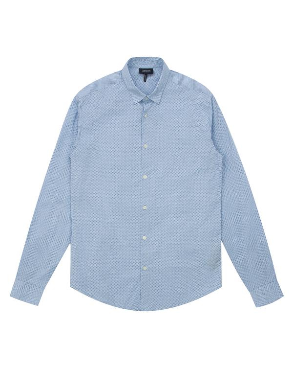 рубашка из хлопка с мелким узором  артикул 6Y6C09-6NMYZ марки ARMANI JEANS купить за 8600 руб.