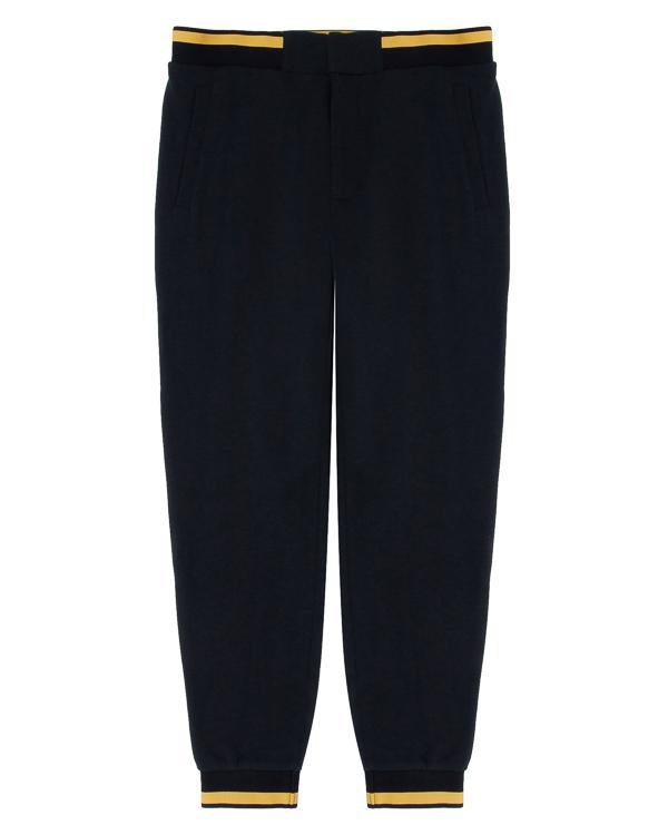 брюки спортивного силуэта из хлопка  артикул 6Y6P94 марки ARMANI JEANS купить за 11600 руб.