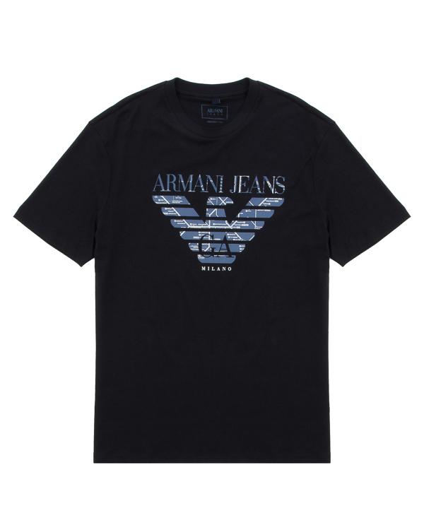 футболка прямого силуэта из хлопка артикул 6Y6T47 марки ARMANI JEANS купить за 4900 руб.