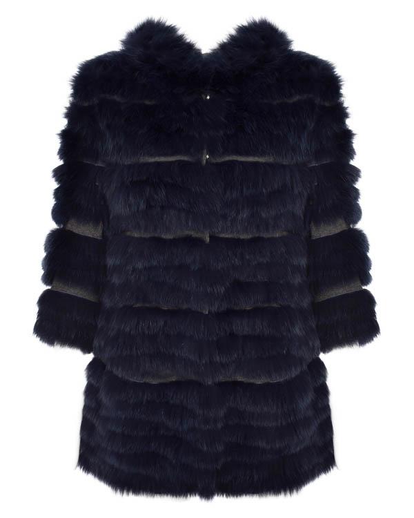 пальто из шерсти с отделкой мехом лисы  артикул 7208S марки S.W.O.R.D. купить за 26800 руб.
