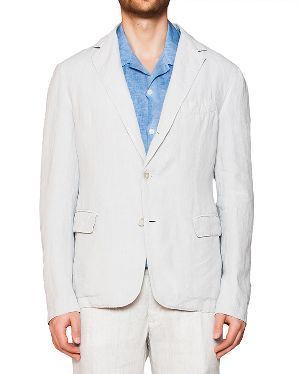 пиджак из натурального льна артикул 8469D695-001 марки 120% lino купить за 15700 руб.